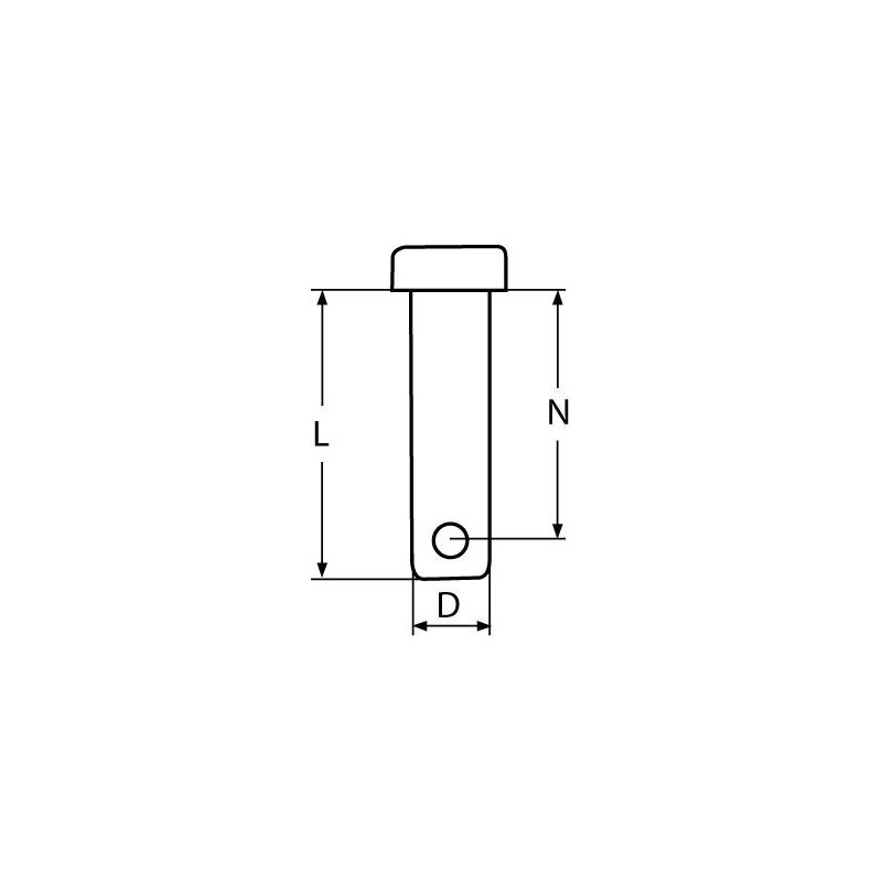 Clevis Pin  4x14mm - stainless steel