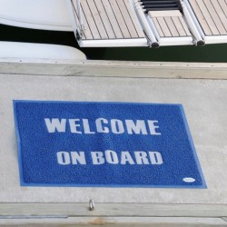 lazilas WELCOME MAT WITH BACKING, PVC - BLUE - 40 X 60CM