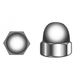 Hexagon domed cap nuts M4 - stainless steel