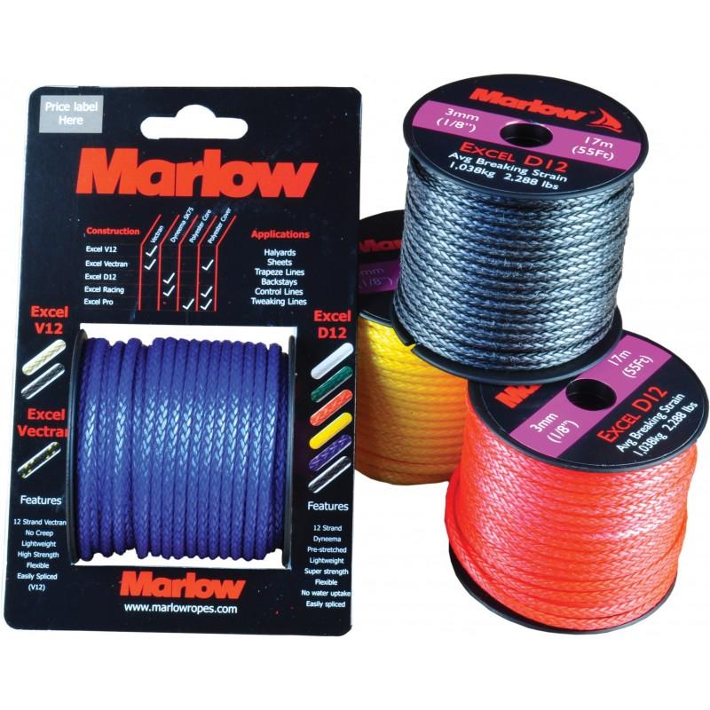 Marlow Excel D12 Mini-Spools 3mm