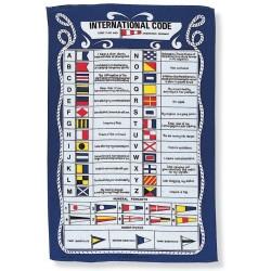 International Code Tea Towel