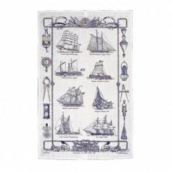 Sailing ships Tea towel