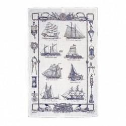 Sailing ships Tea towel