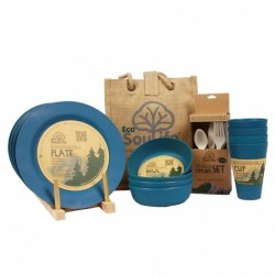Bamboo - Dinner set - 4 people - Navy