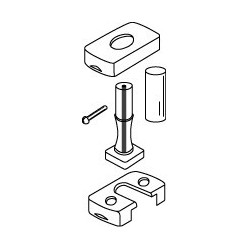 Optiparts Joint with rope core, releasable base with pin and tubing
