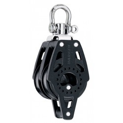 Harken 40 mm Double Block  Swivel, Becket
