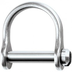 "Ronstan Shackle, wide dee, 1/8"" slotted pin"