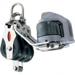 Ronstan SERIE 20 Triple, becket, cam cleat, 2-axis shackle head