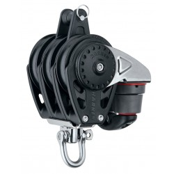 Harken 57 mm Triple Block — Swivel, Becket, Cam Cleat
