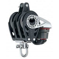 Harken 57 mm Triple Ratchet Block — Swivel, Becket, Cam Cleat