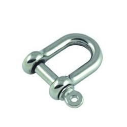 Allen Round body D shackle with forged 4mm pin