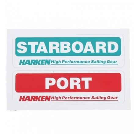 Harken Starbord/Port sticker 2x (125x35mm)