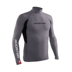 Rooster Rash Vest Long Sleeve - Graphite