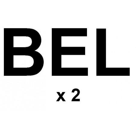 "Sail letters 230mm - ""BEL"" black"