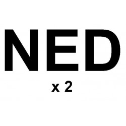 "Sail letters 230mm - ""NED"" black"