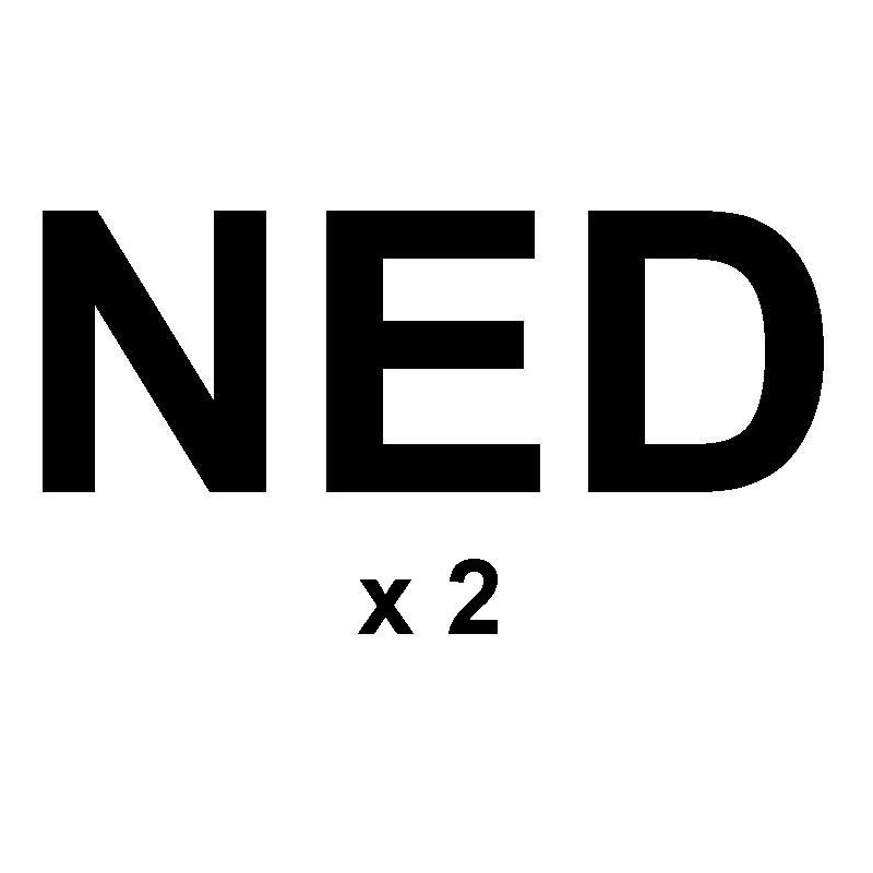 """Sail letters300mm - """"NED"""" black"""