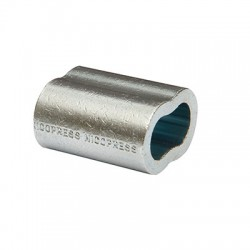 NicoPress  oval Zinc Plated Copper Ferrule...