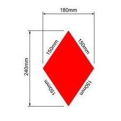 Red diamond for woman Laser 4.7 & radial sail